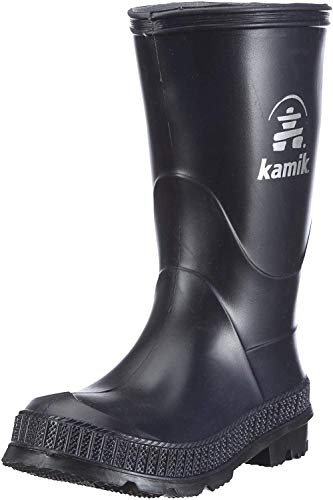 Kamik Stomp Rain Boot (Toddler/Little Kid/Big Kid),Navy/Black,1 M US Little Kid