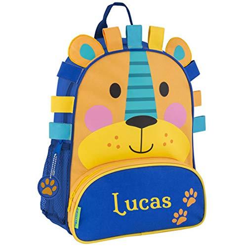 Children's Personalised Stephen Joseph Backpacks | Personalised Sidekick Backpacks for Kids | Kids Animal Backpacks by Stephen Joseph (Lion)