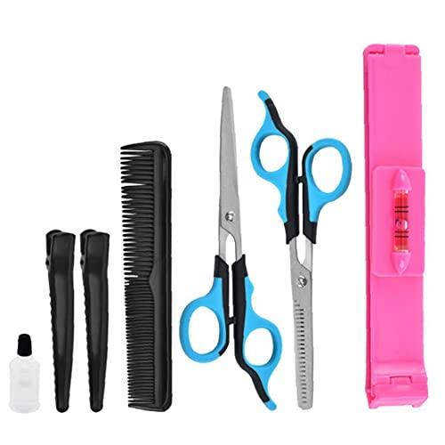 Kit de tijeras de peluquería Kit de cizallas de peinado para el cabello para el salón de la casa Barber