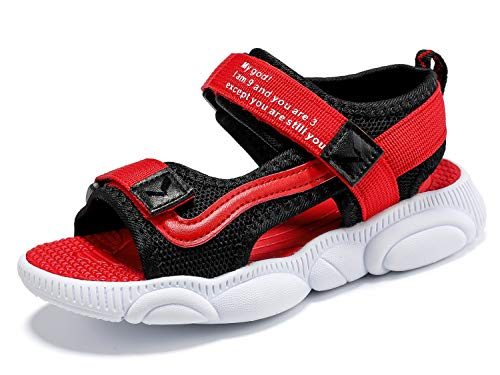 Kinder Sandalen Jungen Sport Outdoor Peeptoe Sandalen Mädchen Sommer Beach Pool Sneakers Strand Trekking Wanderschuhe für Unisex Große Kinder Rot gr.38