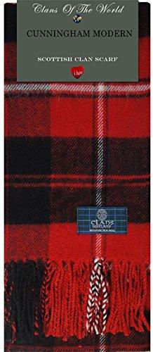 I Luv Ltd Cunningham Modern Tartan Clan Scarf 100% Soft Lambswool