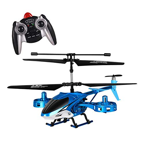 Kikioo Mini RC Helicopter Crash Resistance Gyro Remote Control Helicopter Outdoor / Indoor 4.5 Canali Hobby RC Flying 2 Blade Sostituire RC Incluso Plane Toy Gift for Kids ( Color : Blue )