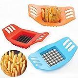 N/V Dispositivo di taglio di patatine fritte Kit Francese Fry Filato Cutter Set Patate Carota Affettatrice Verdura Grattugia Chopper Chips Making Tool, Multi-Color