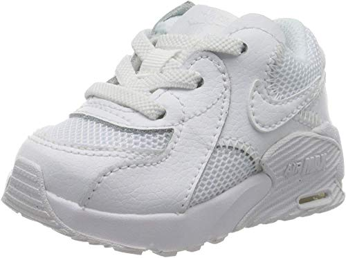 Nike Jungen Unisex Kinder Air Max Excee Sneaker, White/White-White, 32 EU