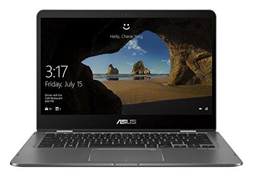 2020 Asus Zenbook Flip 14' FHD (1920x1080) Touch 2-in-1 Business Laptop (Intel Quad Core i7-8565U, 16GB RAM, 512GB PCIe M.2 SSD) Backlit, Fingerprint, Type-C, Bluetooth 5.0, Windows 10 Home
