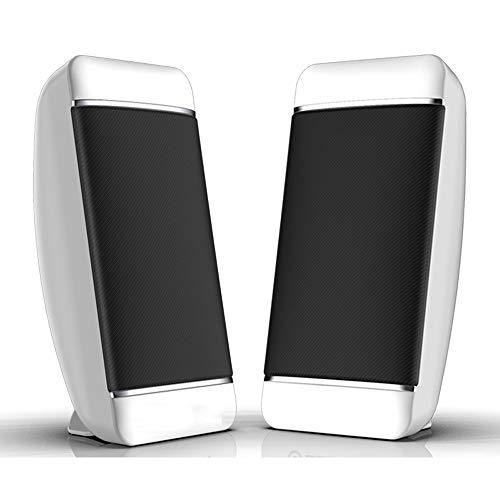 K-YYO Bluetooth Lautsprecher, Lautsprecher PC for Desktop / Laptop / PC / TV, USB Powered Stereo-Lautsprecher for Spiel, Kino Musik, Built-In Bass Zwerchfell, USB, 2.5Wx2-wissen ,Für Telefon