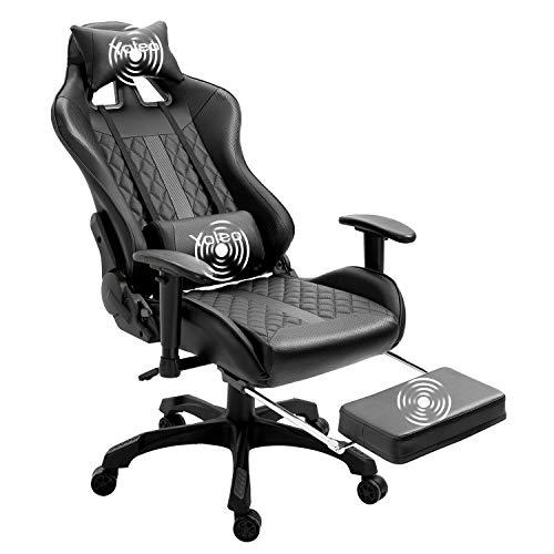 YOLEO Sedia Gaming, Sedia da Ufficio Poltrona Gaming con Poggiapiedi, Sedia da Gaming Girevole Ergonomica, Schienale & Regolabile in Altezza