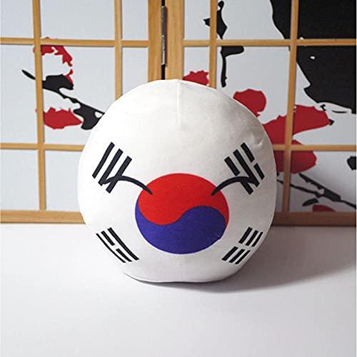 Polandall Muelle de peluche Countryball USSS EE. UU. Francia Rusia Reino Unido Japón Alemania Cananda Italia País de pelota de pelota Peluche 20 cm