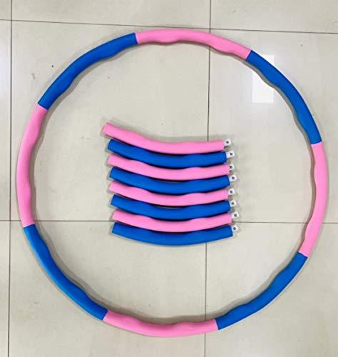 DDH Aro de Fitness Deportivo para Adultos, fácil de Girar, aro de Fitness Suave y Superior, Anillo de Fitness para pérdida de pérdida-Seven Knots (Pink + White)
