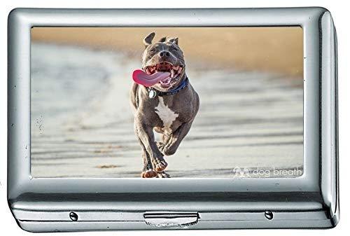 Animal Dog 367338 Zigarettenetui / -schachtel Visitenkartenetui Edelstahlgehäuse Silber Metall Geldbörsenschutz