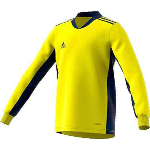 adidas Kinder Adi Pro 20 Goalkeeper Jersey Longsleeve Torwarttrikot, Shock Yellow/Team Navy Blue, 164