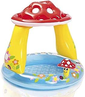 Intex 57407 Inflatable Mushroom Baby Pool, Light Blue