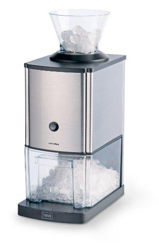 Trebs Edelstahl Eiscrusher ideal für Softdrinks, Cocktails oder kalte Nachtischzubereitung (1 kg zerkleinertes Eis pro Minute, Kapazität 3 Liter, 80 Watt)