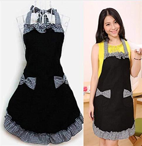 YAYA slabbetjes schort jurk Flirty Vintage Kitchen Vrouwen Bowknot met tas geschenk