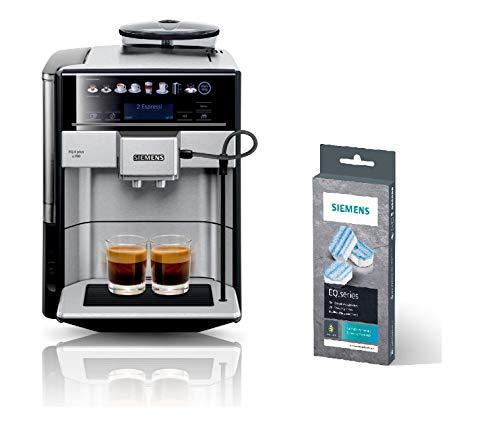 Siemens EQ.6 plus s700 Kaffeevollautomat TE657503DE, automatische Reinigung, Direktwahl + Entkalkungstabletten TZ80002A, schützt vor Korrosion, für Kaffeevollautomaten der EQ.Serie, weiß