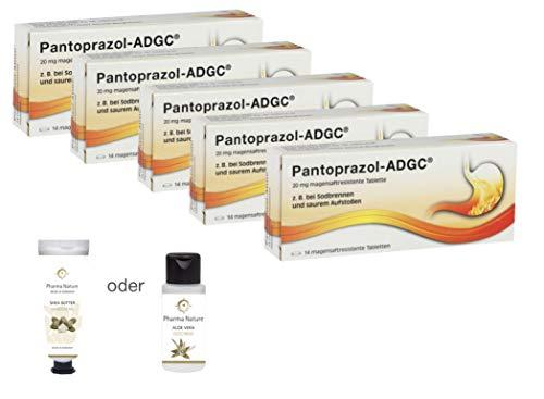 Pantoprazol ADGC 5er Sparset inkl. einer pflegenden Handcreme o. Duschbad von Pharma Nature