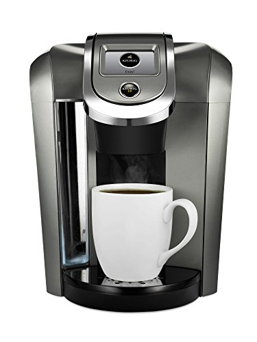 Keurig K500 Coffee Maker Single Serve 2.0 Brewing System with Top Needle Cleaning Maintenance Accessory and My K-Cup Reusable Coffee Filter, Platinum