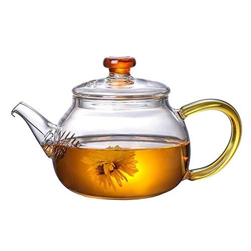 NoneBrand Tetera Cuadrada, Juego de té de Material de Vidrio, Capacidad de 300 ml, Hecha de Vidrio de Alto borosilicato, diseño Engrosado, con Filtro, Aislamiento térmico