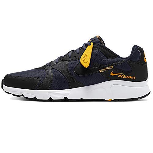 Nike Atsuma, Zapatillas para Hombre, Obsidian/Black/Laser Orange, 40 EU