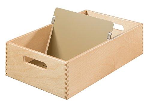 HAN Karteitrog 1005-0, DIN A5 quer aus Holz / Hochwertige Lernkarteibox aus edlem & robustem Naturholz für 1.500 DIN A5 Karteikarten / Ideal zum Vokabeln lernen & als Lehrmaterial