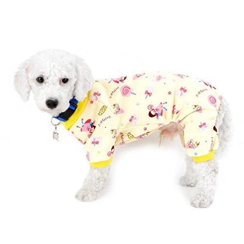 selmai Kleine Hunde Overall Fleece gefüttert Puppy Winter Schlafanzüge Innen Outfits Flanell Warm Lollipop Pet Hund Kätzchen Yorkie Chihuahua Kleidung Bekleidung Zubehör