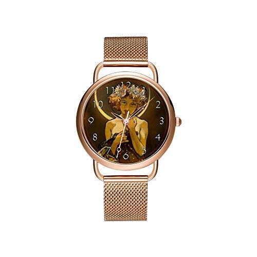 Frauen Uhren Marke Damen Mesh Gürtel ultradünne Uhr wasserdichte Uhr Quarzuhr Weihnachten Claddagh Hawk Armbanduhren
