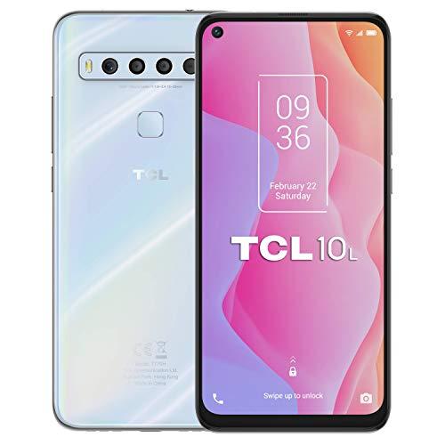 """TCL 10L – Smartphone 6.53"""" NXTVISION (4G, NFC, 6GB RAM, 64GB ROM, Cuádruple Cámara Trasera 48MP + 8MP + 2MP + 2MP, Cámara Frontal 16MP) color blanco"""