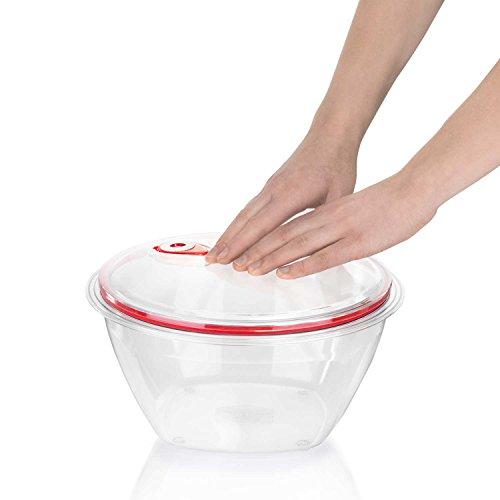 Salatschüssel mit Vakuumdeckel transparent RESTPOSTEN, Frische, Gemüse, Schüssel,Vakuum, Frischhaltedose, Frisch, Obst, haltbar