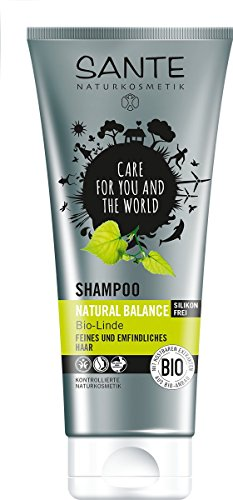 SANTE Naturkosmetik Shampoo Natural Balance Linde, Für feines & empfindliches Haar, Neue Elastizität, 2x200ml Doppelpack
