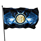 dfjdfjdjf Flagge/Fahne Inter Milan Wallpaper 2018 Flags 3x5 Feet -Nylon Flags with Bright Vivid Color and Premium Material for Outdoor,Longest Lasting for Outside