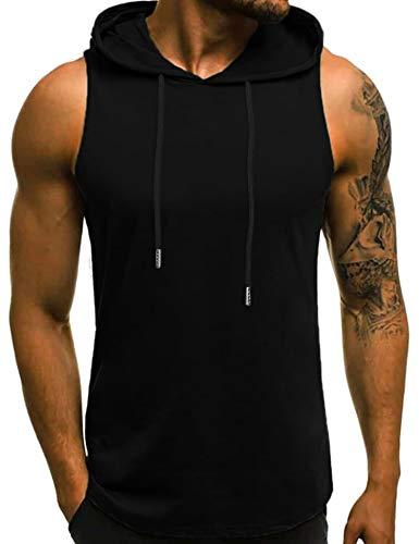 Babioboa Men's Workout Gym Hooded Tank Tops Sleeveless...