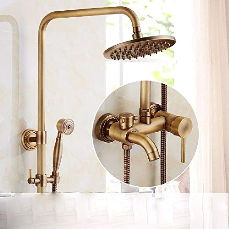 NBE Antike Dusche, alle im Europischen Stil Kupfer Badezimmer, Retro Wasserhahn Dusche, Badezimmer mit Dusche, Wasserhahn, EIN
