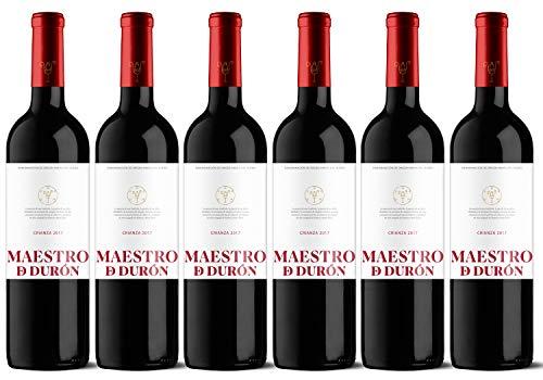 Maestro de Durón – Vino Tinto Crianza 2017 Denominación de Origen Ribera del Duero, Variedad Tempranillo, 12 meses en barrica – Caja de 6 botellas x 750 ml – Total: 4500 ml