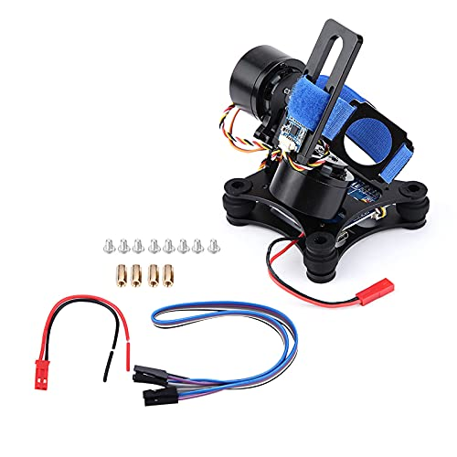 RC Drone Camera Gimbal, Metal Brushless Gimbal Board BGC 2.2 for 3/3+ / 4 Camera RC Drone Quadcopter Component Part Accessory(Black)