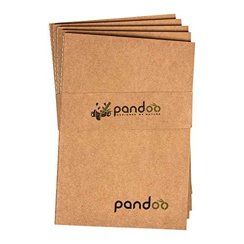 pandoo A5 Notizheft blanko 5er Set aus Bambus-Fasern | Bullet Journal, Tagebuch, Notizbuch | 40 Blatt