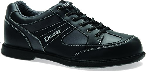 Dexter Men's Pro Am II Bowling Shoes Left Handed, Black/Gray, 9.5