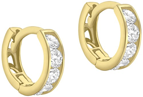 Carissima Gold Damen - Ohrringe 9 k (375) Rundschliff Zirkonia 1.58.9199