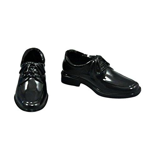 1/6 schwarz Aktionfiguren Schuhe aus Kunststoff Für 12 Zoll männliche Action Figuren - Länge: ca. 5cm