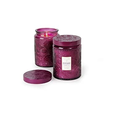 Voluspa Santiago Huckelberry Large Glass Jar Candle 100 Hour 16.00 oz