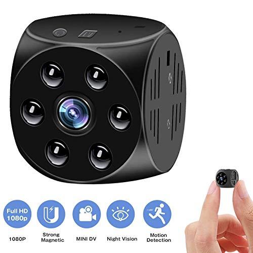 Mini cámara Oculta espía, Multifuncional 1080P portátil pequeña cámara con visión Nocturna y Movimiento Detective Nanny CAM detección de Actividad Alerta ( Color : +128G Memory Card )