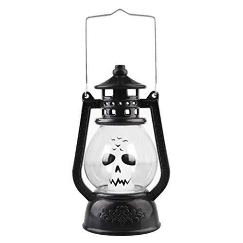 R-RIGHT Halloween Decoration Vintage Hanging LED Light Lamp Portable Ghost Spider Nightlight for Haunted House Props Party Supplies (3)