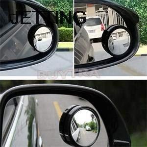 Preisvergleich Produktbild DIYEUWORLDL 2pcs Car Vehicle Blind Spot Dead Zone Mirror Rear View Mirror Small Round Mirror Auto Side 360 Wide Angle Round Convex Mirror