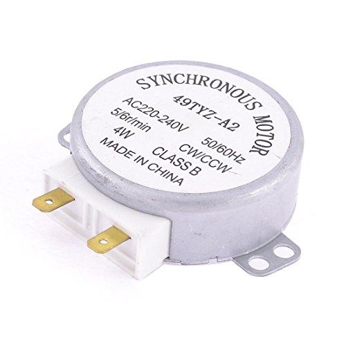 SODIAL(R) Forno a microonde della piattaforma girevole motore sincrono CW / CCW 4W 5 / 6RPM AC 220-240V
