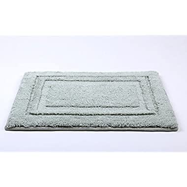 Jonny&Lora Memory Foam Bath Mat Non-Slip Absorbent and Super Comfort (Green,16  x24)