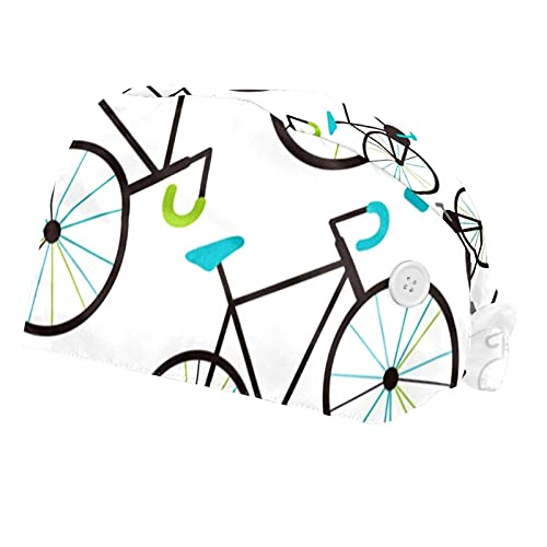 SDFVHDK Bike Donne Uomini Lavoro Cap 2 PZ con Sweatband Regolabile Cappelli di Lavoro