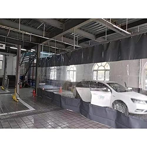 AMSXNOO Cortinas Transparentes de Interior/Exterior, 1.5mm Cortina de Plástico con Reforzado Ojales, Impermeable Anticongelante AntiI-UV Lona por Coche Lavar Habitación Pérgola