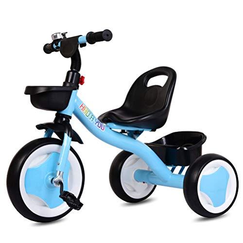 Kinder 3 Rad Trike Baby Dreirad Kleinkind 3 Räder Pedal Fahrrad Aufsitzrad Dreirad Erster Trike Roller Baby Balance Fahrradspielzeug mit vorderem und hinterem Korb, abnehmbares Bell Baby Balance