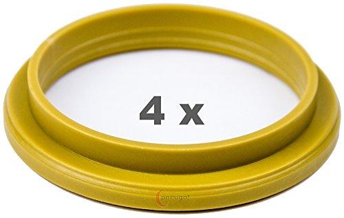 4 x pneugo! Bagues de centrage pour jantes alu 72.2 mm - 57.1 mm