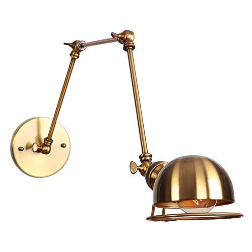 ToyHero® Brons Vintage wandlamp met verstelbare leuning wandlamp industriële retro antieke wandlamp decoratieve wandverlichting lamp (gloeilampen niet inbegrepen)