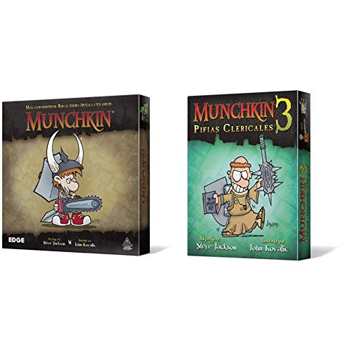 Edge Munchkin MU01 Juego de Mesa + Entertainment Munchkin 3: Pifias Clericales, Juego de Mesa
